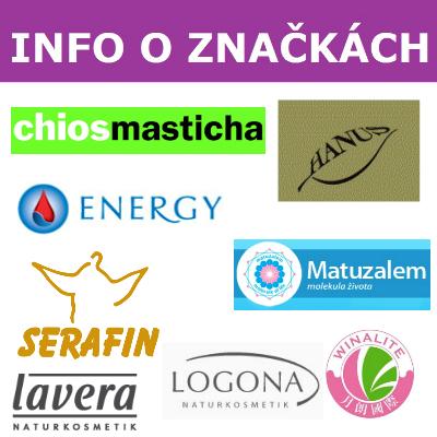 Informácie o značkách prírodných liečiv a bio kozmetiky